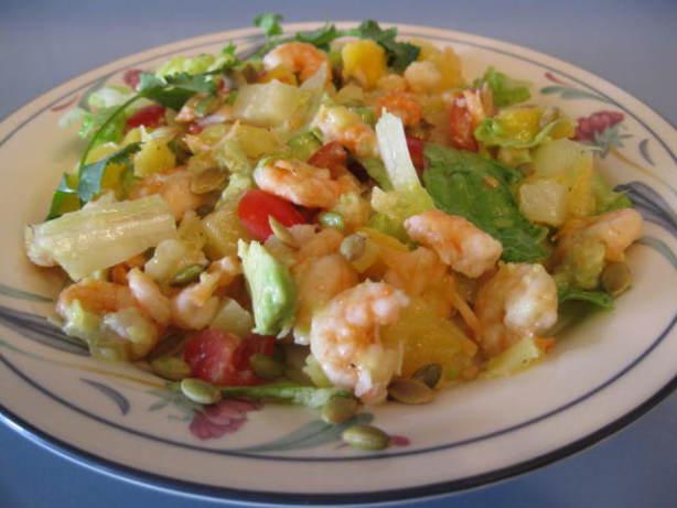 Shrimp, Mango And Avocado Salad W Passion Fruit Vinaigrette Recipe ...