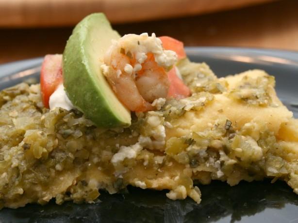 Shrimp And Cotija Enchiladas With Salsa Verde And Crema Mexicana ...