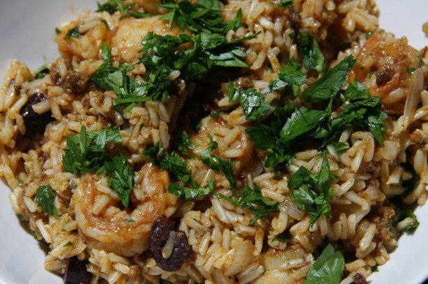 Rice With Chorizo, Shrimp And Green Olives Recipe - Food.com