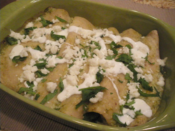 Green Jalapeno And Tomatillo Chicken Enchiladas Recipe - Mexican.Food ...