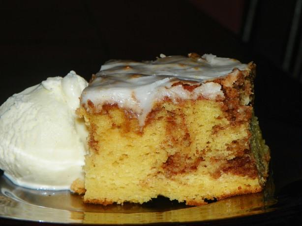 Quick Cinnamon Roll Cake Recipe Food Com
