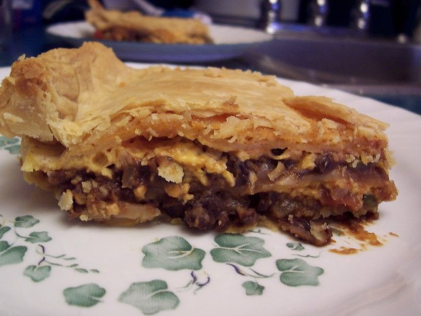 Black Bean And Cheese Tortilla Pie Recipe - Mexican.Food.com