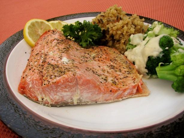 how to microwave salmon fish