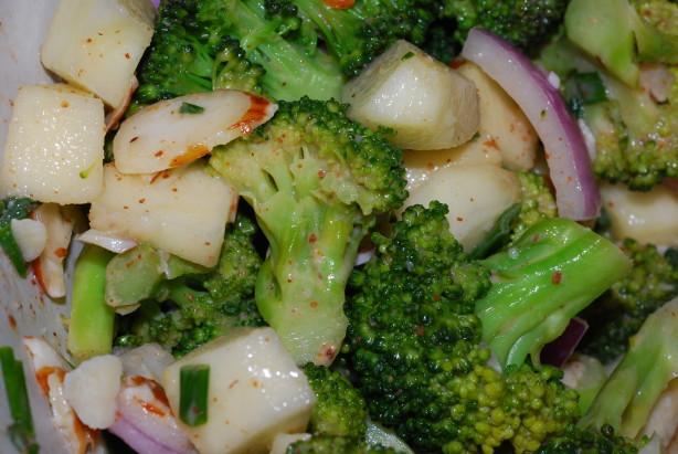 Broccoli Crunch With Creamy Almond Dressing Recipe - Southern.Food.com