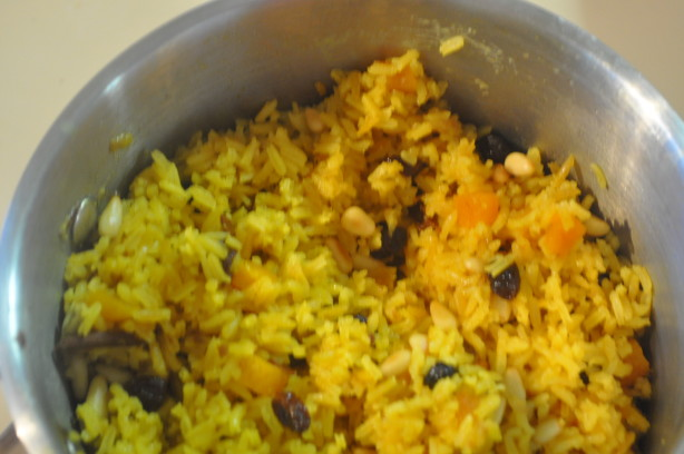 Spiced Basmati Rice With Fruit And Pine Nuts Recipe - Food.com