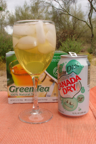 Green tea cocktail non alcoholic recipe for Green alcoholic drinks recipes