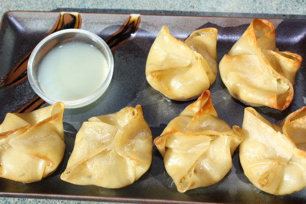 Baked Crab Rangoon With Thai Ginger-Lime Dipping Sauce Recipe - Food ...