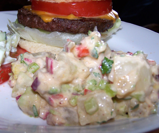 Western Sweet Dishes Recipes: Zingy South-Western Potato Salad Recipe