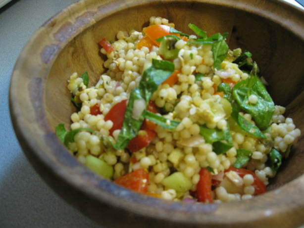 Mediterranean Salad With Israeli Couscous Recipe - Food.com