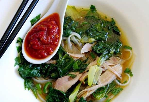 ... Noodle Soup With Chicken, Baby Tatsoi, And Bok Choy Recipe - Food.com
