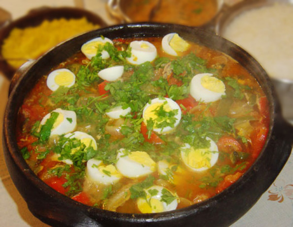 Bahian Brasilian Fish Stew, Decorated With Boiled Eggs Moqueca Recipe ...