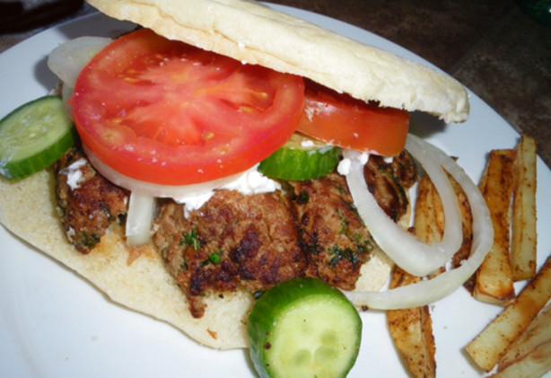 Mediterranean Lamb Burger With Greek Garnishes Recipe - Food.com