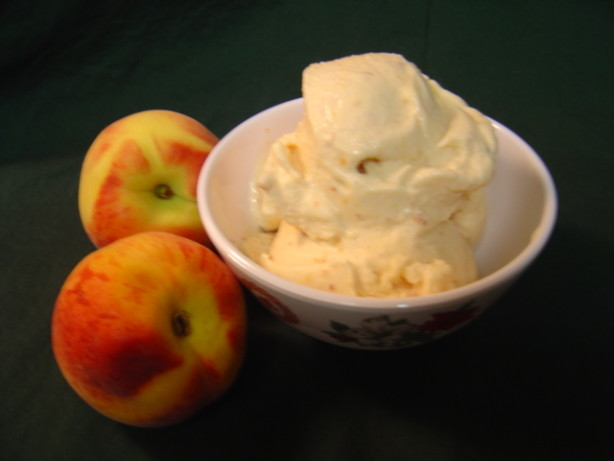 Peach Custard Ice Cream With Fresh Peach Compote Recipe ...