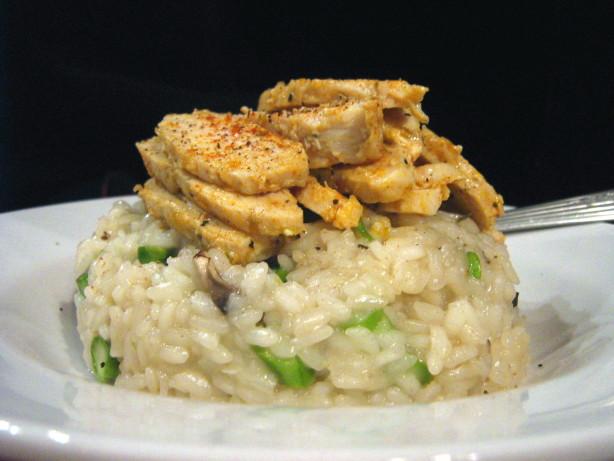 Mushroom Asparagus Risotto With Crisped Chicken Recipe - Food.com