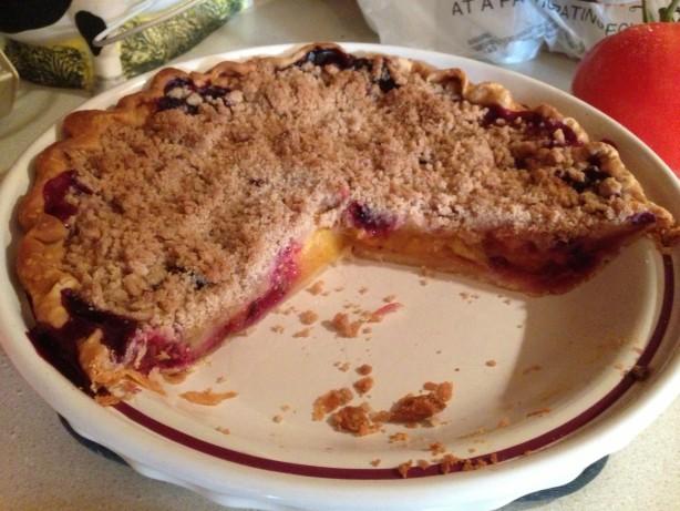 Peach Blueberry Streusel Pie Recipe - Food.com