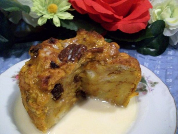 Pumpkin Bread Pudding With Vanilla Butter Sauce Recipe - Food.com