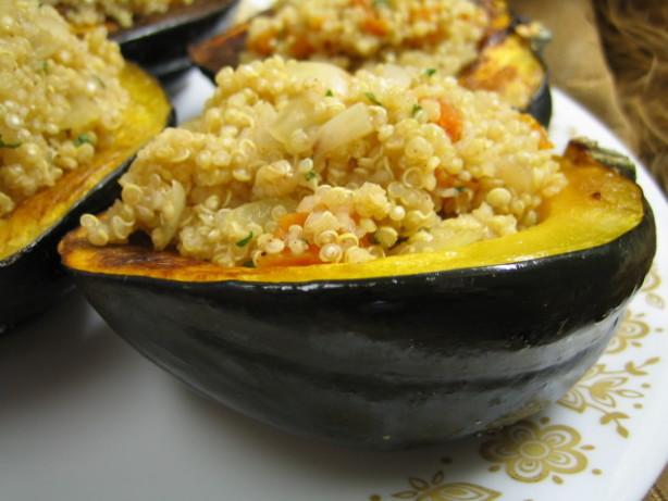 Quinoa-Stuffed Acorn Squash Recipe - Food.com