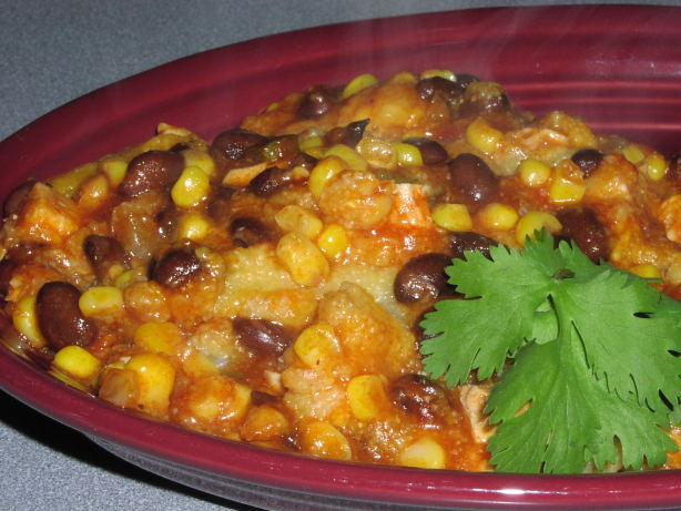 Ww Chicken , Black Bean, And Corn Enchilada Casserole Recipe - Food ...