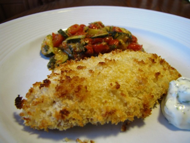 Baked cod fish recipes with bread crumbs for Breaded fish recipe