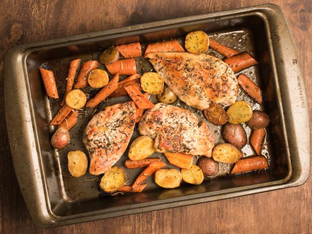Easy Roast Chicken Dinner Recipe Food Com