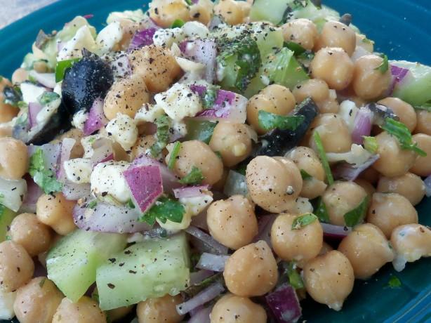 Greek-Style Chickpea Salad Recipe - Food.com