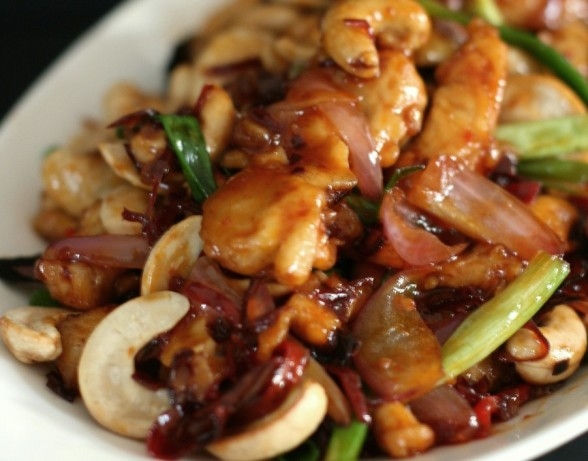 Chinese Pineapple Chicken With Cashew Nuts, Ginger, Spring Onion ...