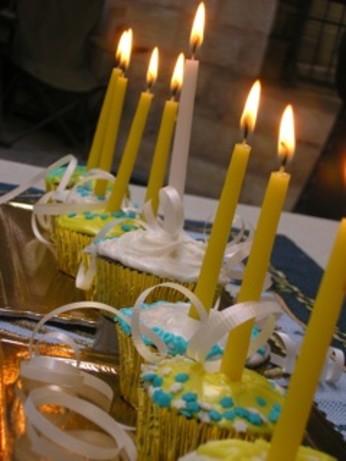 Hanukkah Cupcakes Menorah Recipe Food Com