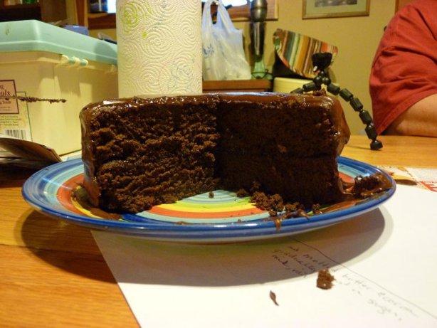 Really Chocolate Chocolate Cake With Chocolate Fudge Frosting Recipe ...