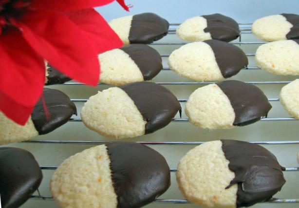 Chocolate-Dipped Orange Cookies Recipe - Food.com