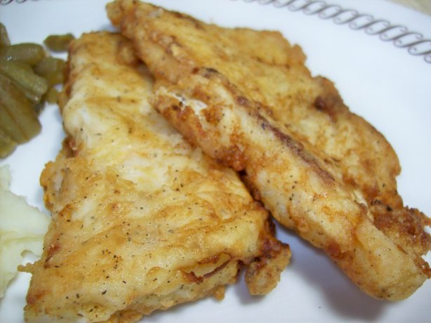 Fried cod for fish and chips with tartar sauce recipe for Fried cod fish recipes