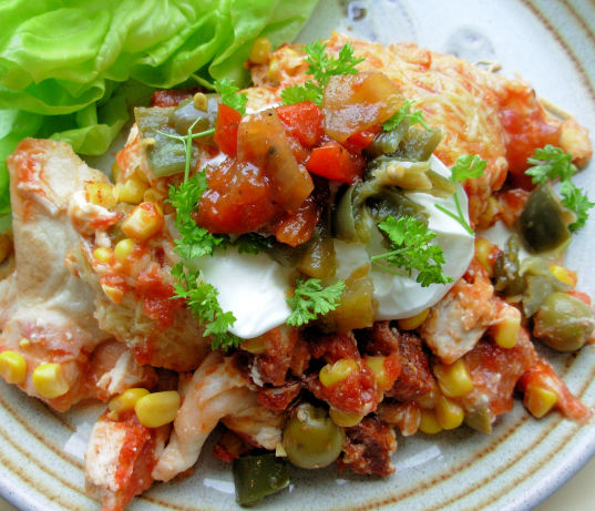 Smoky Chicken And Chorizo Mexican Enchilada Baked Casserole Recipe ...