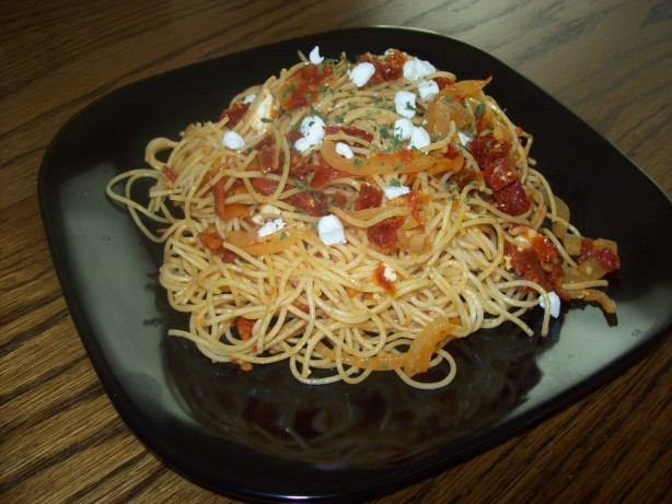 Angel Hair Pasta With Sun-Dried Tomatoes And Goat Cheese Recipe - Food ...