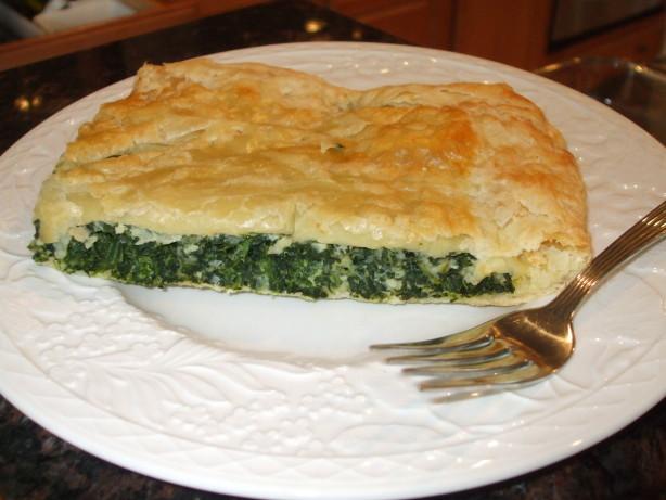 Spinach Pie In Puff Pastry Spanakopita Recipe Food Com