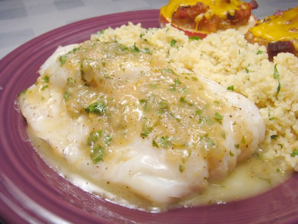 Grilled fish with garlic white wine and butter sauce for White fish recipe