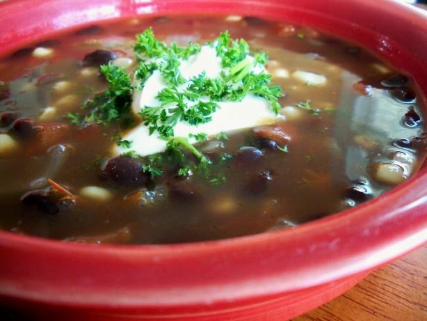 Easy Vegetarian Black Bean Tortilla Soup Recipe - Low-cholesterol.Food ...