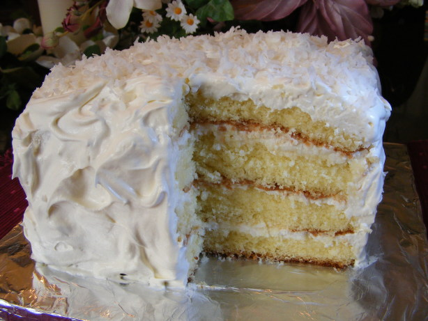 Coconut Sour Cream Cake Recipe Food Com
