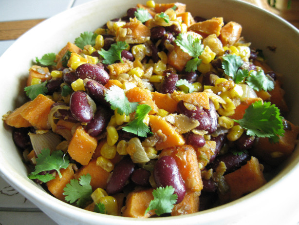 Sweet Potato, Corn And Black Bean Hash Recipe - Food.com