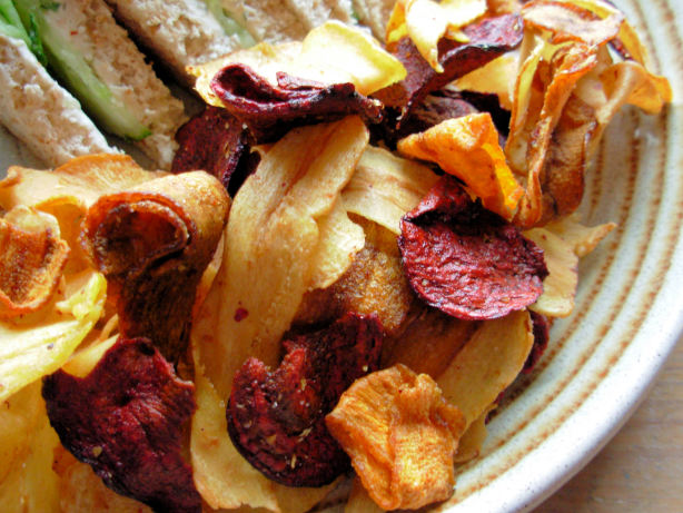 Beetroot, Carrot And Parsnip Chips With Fleur De Sel Recipe - Food.com