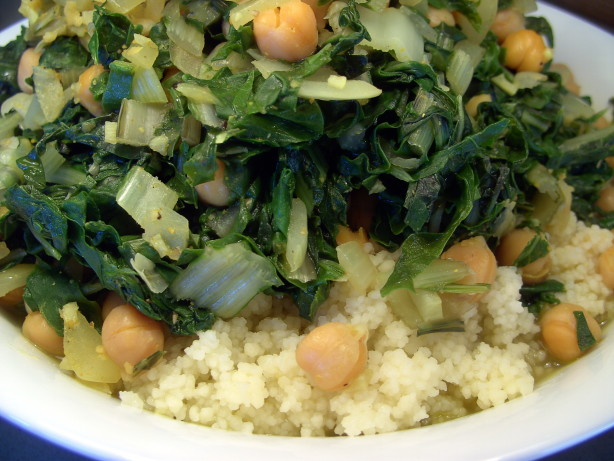 Spinach And Chickpeas With Couscous Recipe - Food.com