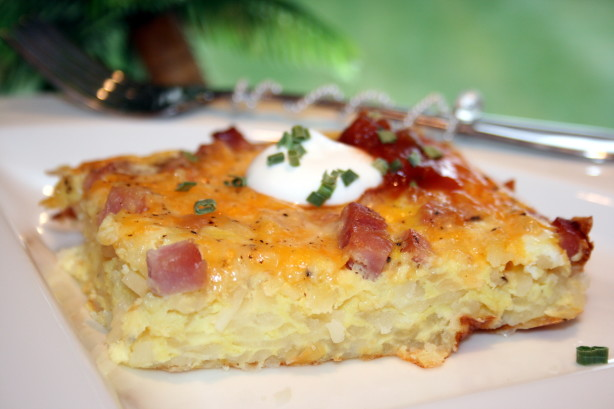 Breakfast Hash Brown Quiche Recipe