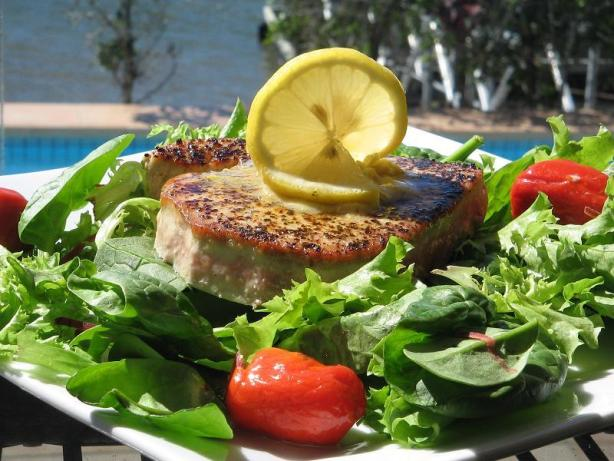 Grilled Tuna Steaks With Lemon-Pepper Butter Recipe - Food.com