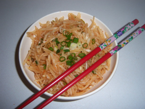 Musangchae, Daikon White Radish) Salad, Like Korean Radish ...