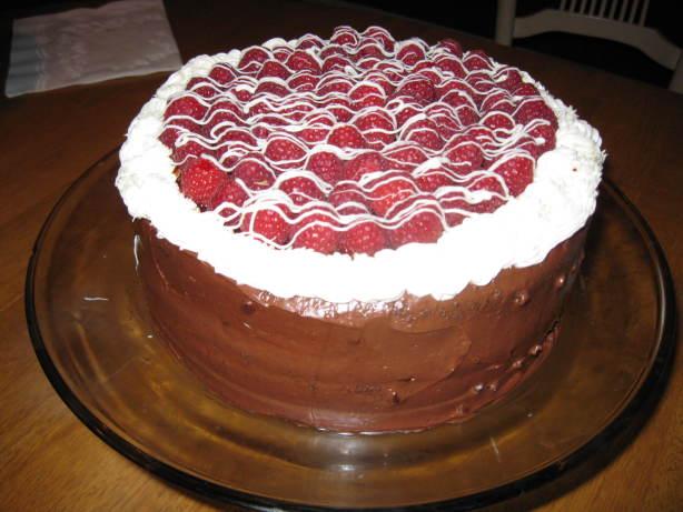 Chocolate Layer Cake With Raspberry Cream Filling Recipe - Food.com