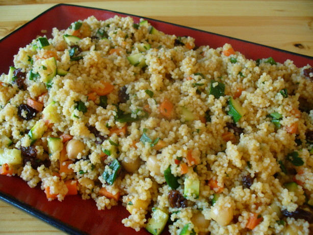 Spiced vegetable couscous recipe for Couscous food recipe
