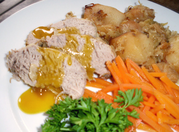 Crock pot pork with sauerkraut apple and potato recipe - Appel krat ...