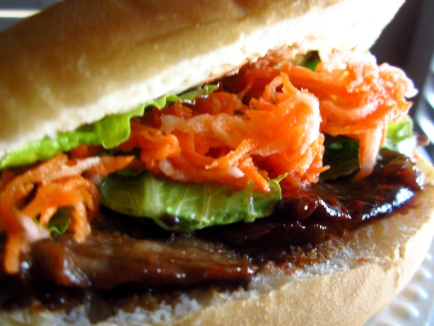 Vietnamese Banh Mi Sandwich With Grilled Beef Recipe Food Com