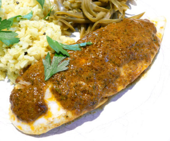 curried oven steamed fish recipe