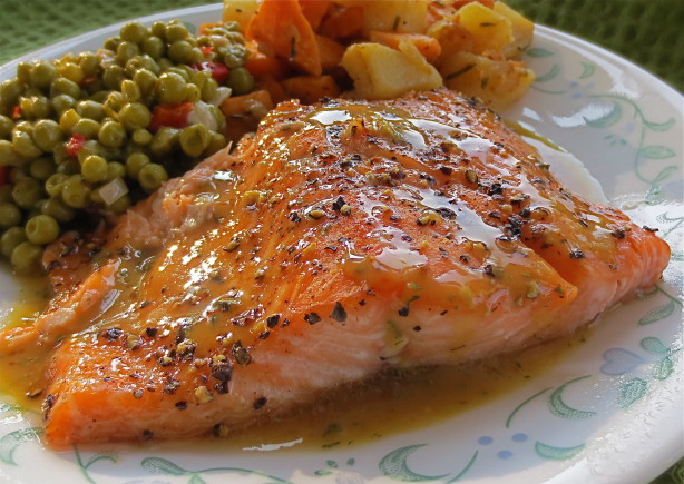Brown Sugar Roasted Salmon With Maple-Mustard-Dill Sauce Recipe - Food ...