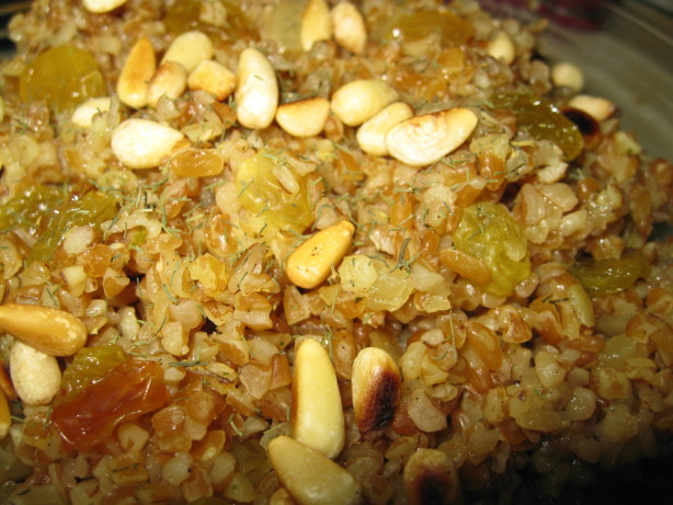 Lime-Scented Bulgar Pilaf With Raisins And Pine Nuts Recipe - Food.com