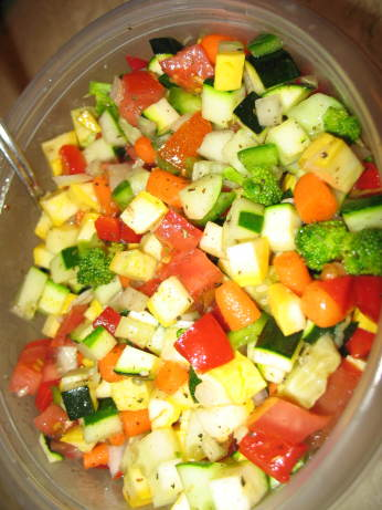 marinated raw vegetable salad recipe